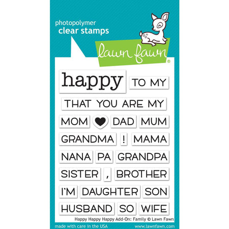 Lawn Fawn Clear Stamps - Happy Add-On Family