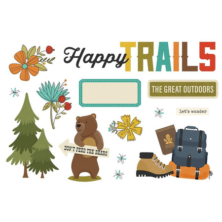 Simple Stories Page Pieces - Happy Trails