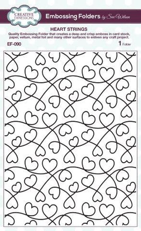 Creative Expressions 6x7.5 Embossing Folder - Heart Strings