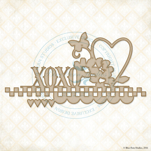 Blue Fern Studios Chipboard - Heartland XOXO