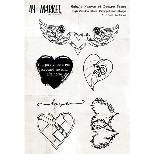 49 And Market Clear Stamps - Gabi's Hearts of Desire