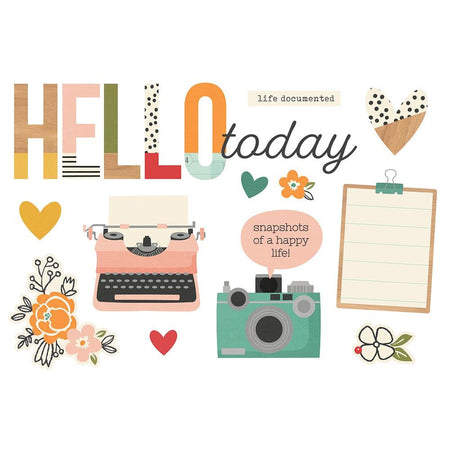 Simple Stories Page Pieces - Hello Today