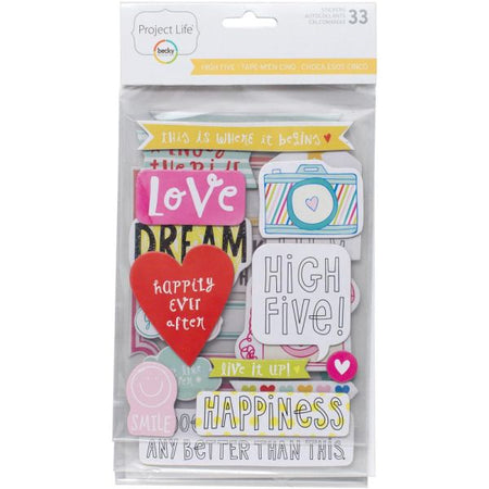 Project Life Chipboard Stickers - High Five