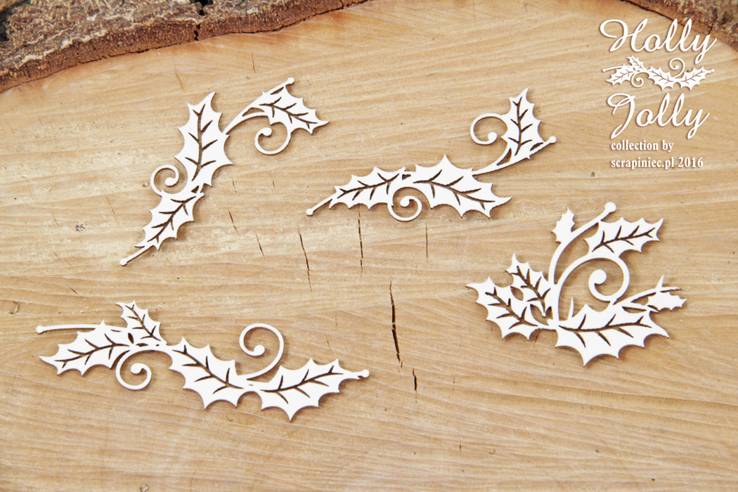 Scrapiniec Chipboard - 4323 Holly Jolly Branches