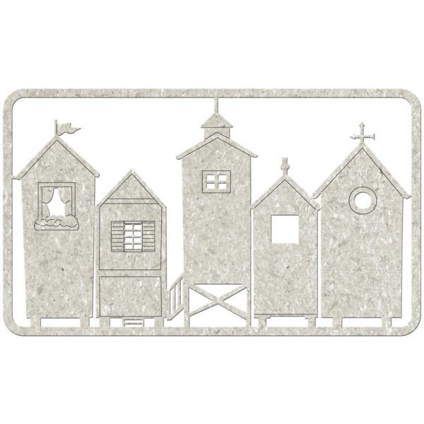 FabScraps Chipboard - Houses