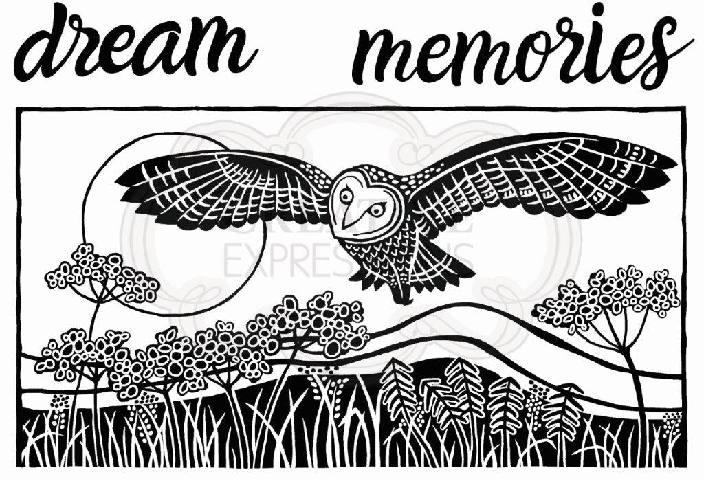 Woodware Clear Magic Stamp Set - Lino-Cut Hunting Owl