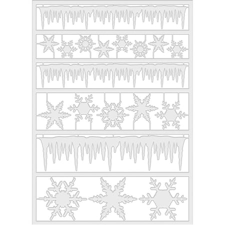 Tim Holtz Frozen Icicle Borders