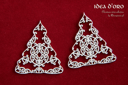 Scrapiniec Chipboard - 3137 Idea d'oro Small Christmas Trees