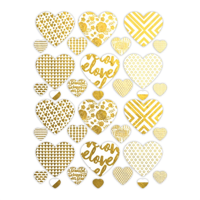 Pretty Little Studio Dream Big - Inspire Love Gold Hearts Die-Cuts