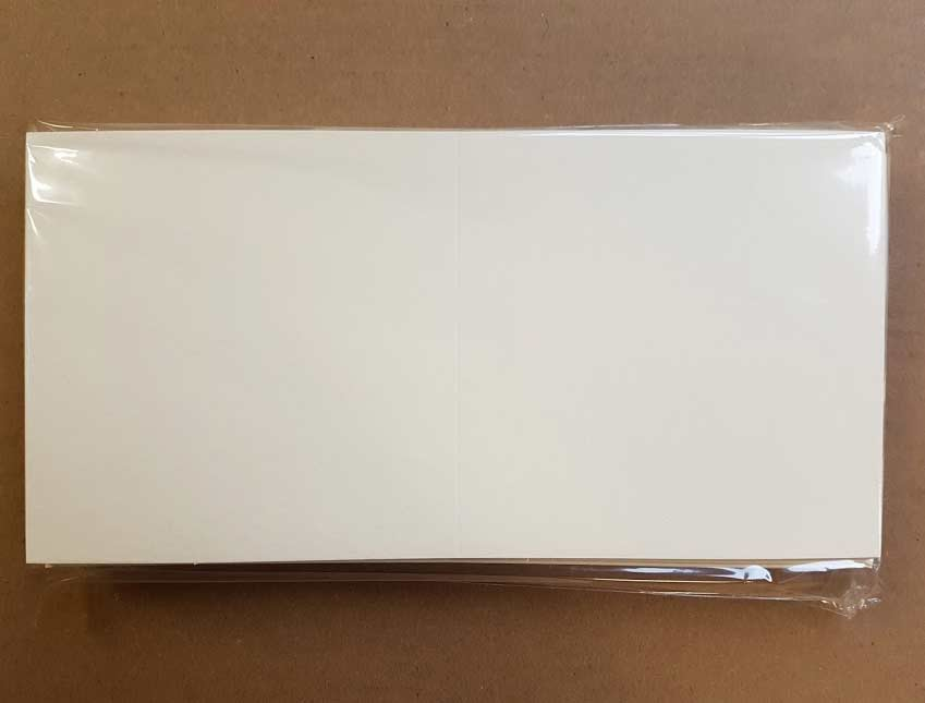 Craft UK Card Blanks & Envelopes - 5.25x5.25 Ivory Hammer (50)