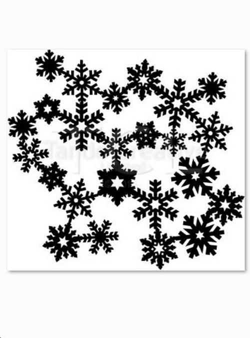 Tando Creative Mask - Joined Snowflakes