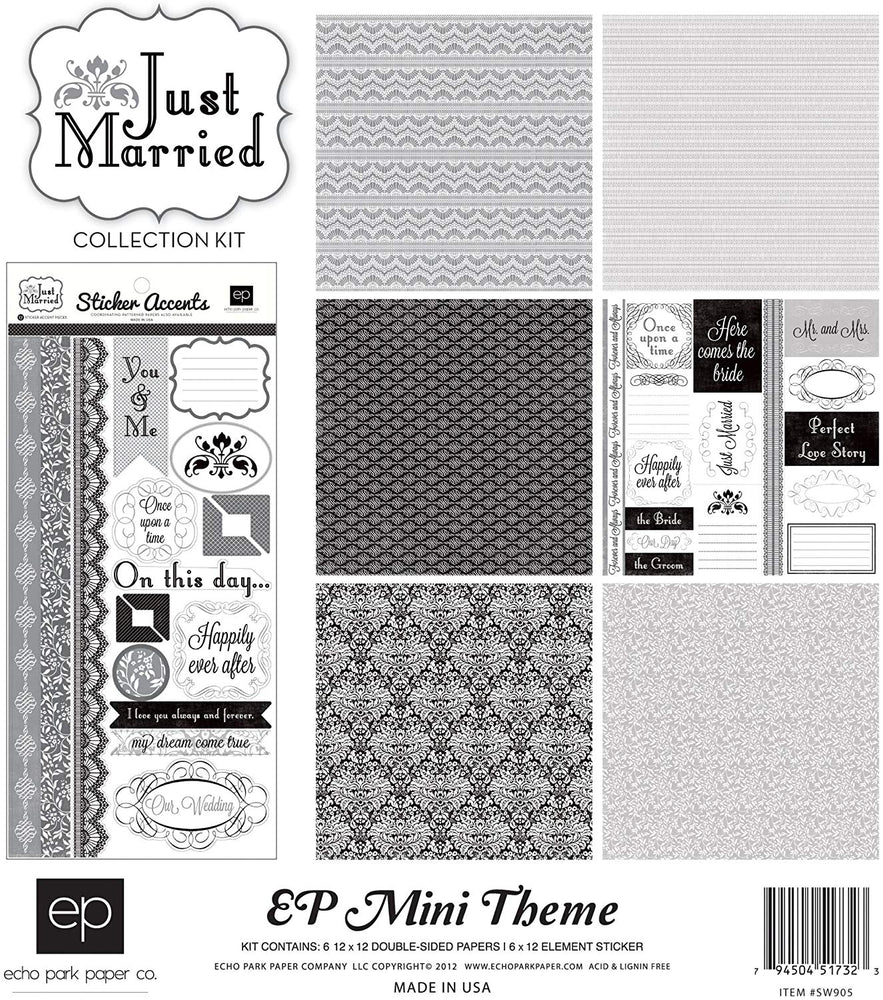 Echo Park Mini Theme - Just Married Collection Kit