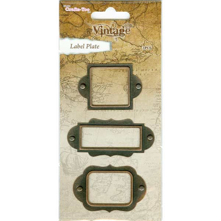 Crafts-Too Vintage Embellishments - Label Plates