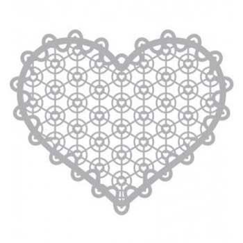 Pronty Mask 12x12 - Lace Heart