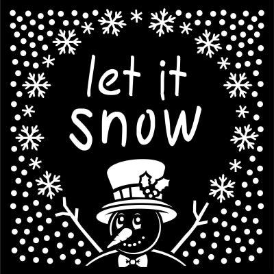 That Special Touch 6x6 Mask - Let It Snow