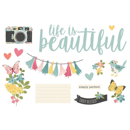Simple Stories Page Pieces - Life Is Beautiful