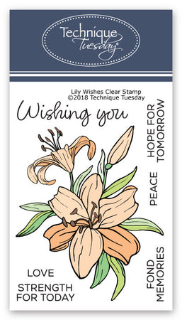 Technique Tuesday Clear Stamps - Lily Wishes