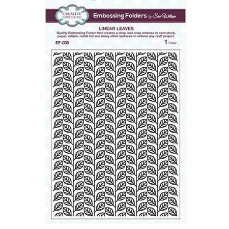 Creative Expressions 6x87.5 Embossing Folder - Linear Leaves