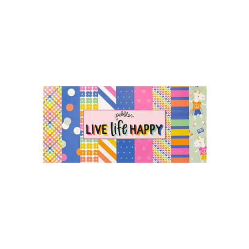 Pebbles Live Life Happy - Bazzill Matchmaker Pack