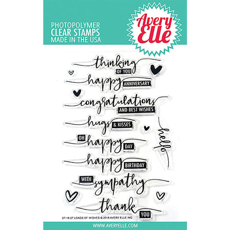 Avery Elle Clear Stamps - Loads of Wishes