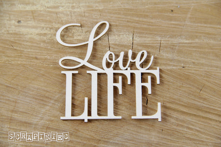 Scrapiniec Chipboard - 3749 Love Life