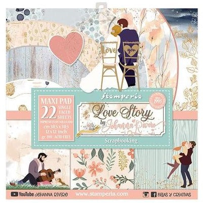 Stamperia Love Story - Maxi Paper Pack