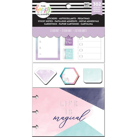 Me & My Big Ideas Happy Planner Note Cards/Stickers - Magical Student