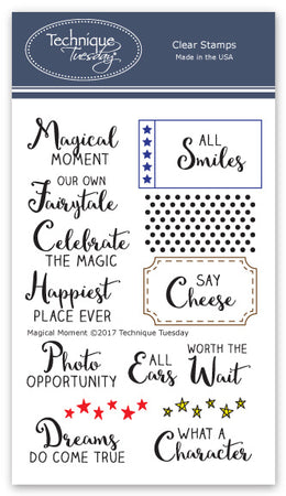 Technique Tuesday Clear Stamps - Magical Moment