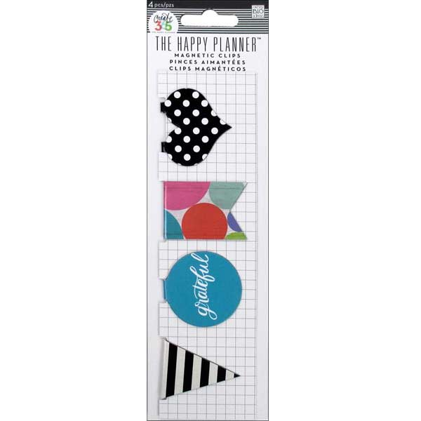 Me & My Big Ideas Happy Planner - Magnetic Clips Grateful