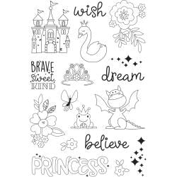 Simple Stories Little Princess - Make A Wish Clear Stamps