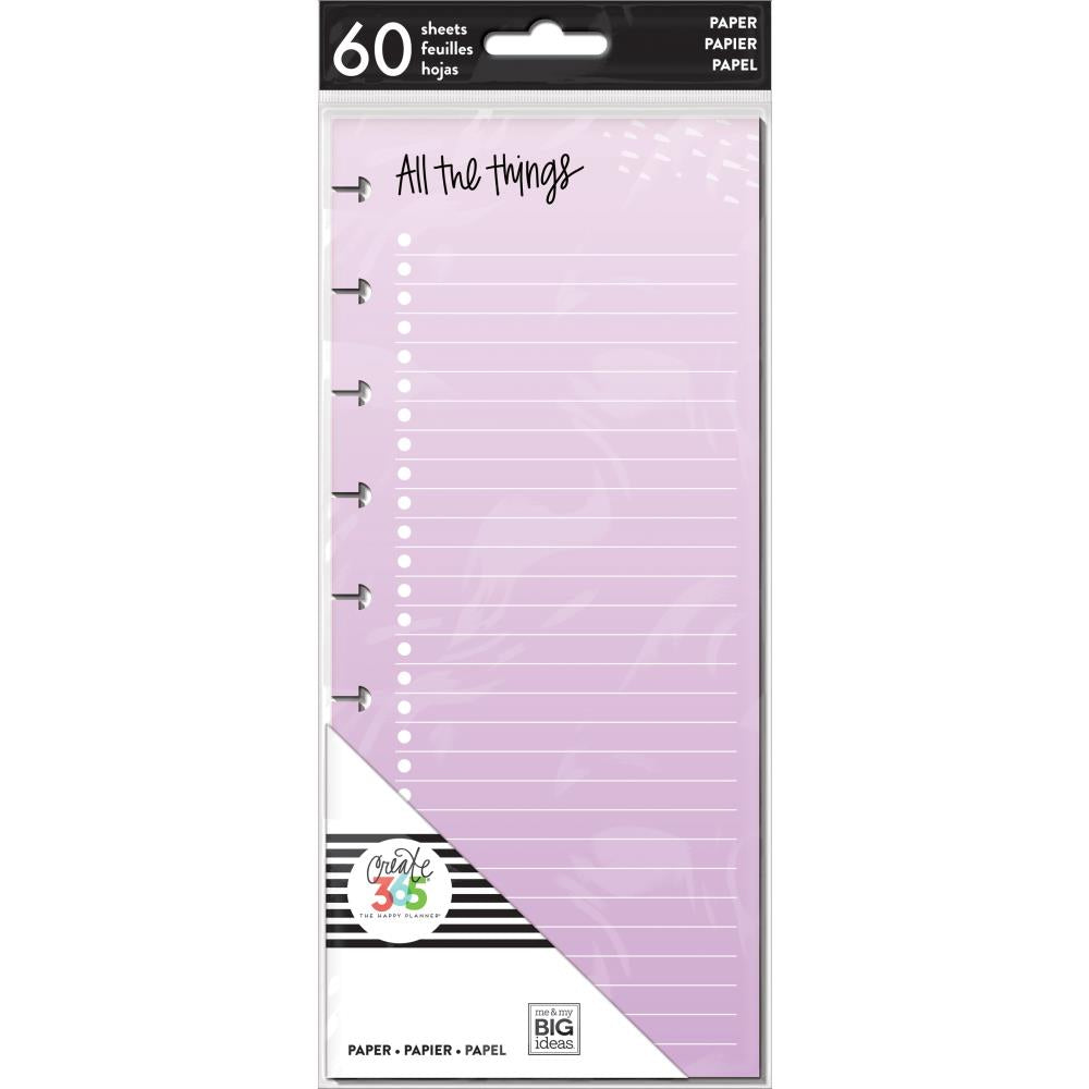 Me & My Big Ideas Happy Planner - Medium Half Sheet Fill Paper Color