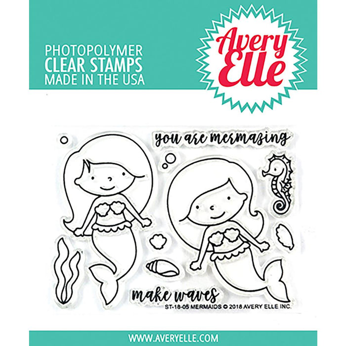 Avery Elle Clear Stamps - Mermaids