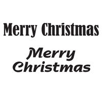 Woodware Clear Magic Singles Stamps - Merry Christmas