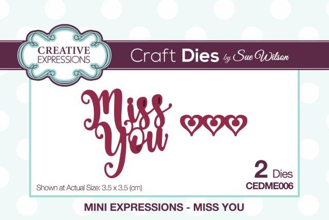 Creative Expressions Mini Expressions Die - Miss You