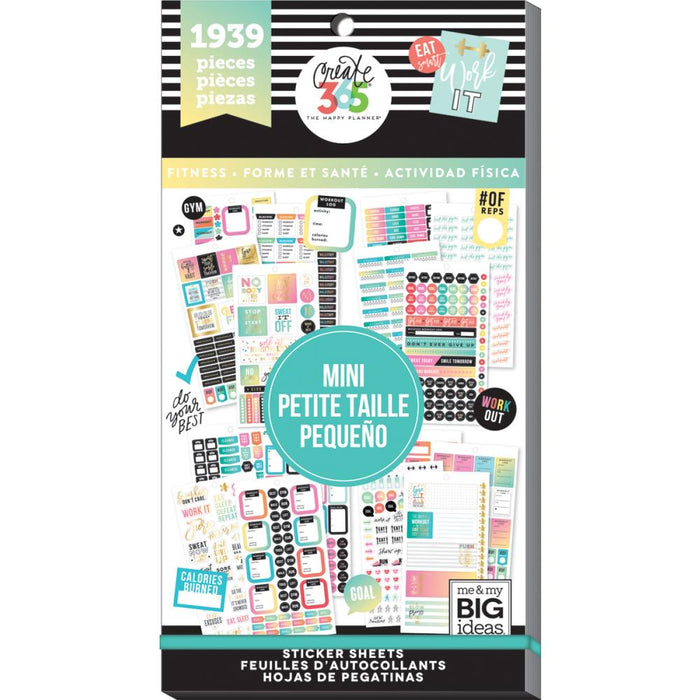 Me & My Big Ideas Happy Planner - Sticker Value Pack Mini Fitness