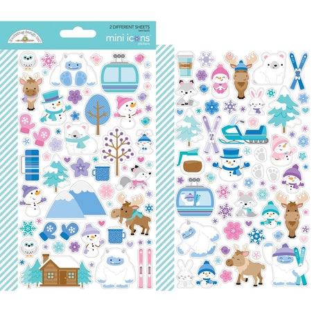 Doodlebug Design Winter Wonderland - Mini Icon Stickers