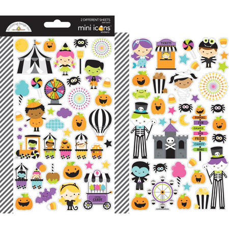 Doodlebug Design Candy Carnival - Mini Icon Stickers