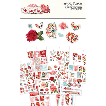Simple Stories Simple Vintage My Valentine - Mini Sticker Tablet