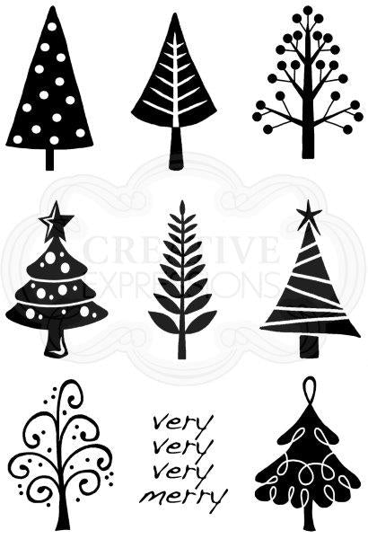 Woodware Clear Magic Singles Stamps - Mini Trees