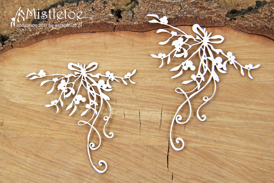 Scrapiniec Chipboard - 4819 Mistletoe Decors