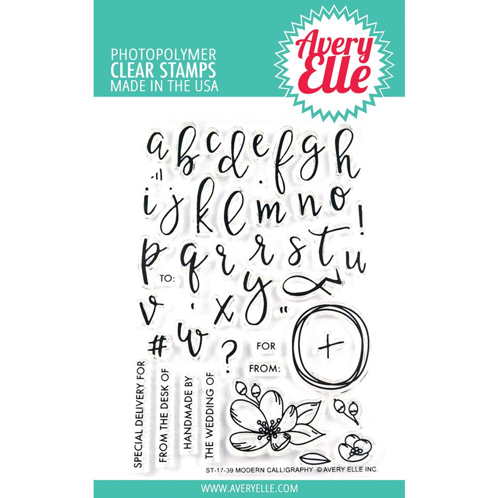 Avery Elle Clear Stamps - Modern Calligraphy
