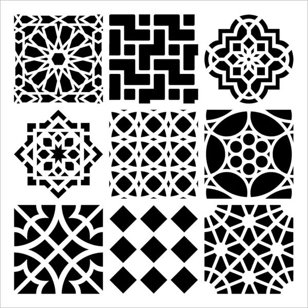 Crafter's Workshop 6x6 Template - Moroccan Tiles