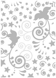 Couture Creations Embossing Folder - New Year Dove