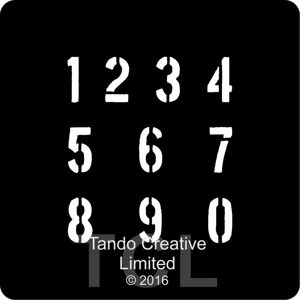 Tando Creative Mini Mask - Numbers