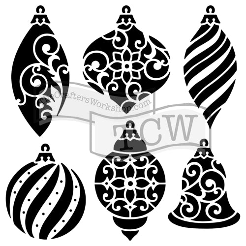 Crafter's Workshop 6x6 Template - Ornaments