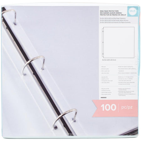 WRMK Ring Page Protectors - 100 Pack