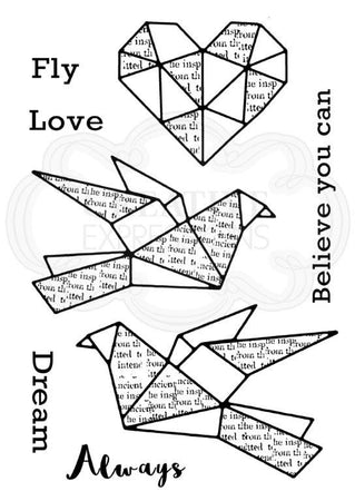 Woodware Clear Magic Singles Stamps - Paper Birds