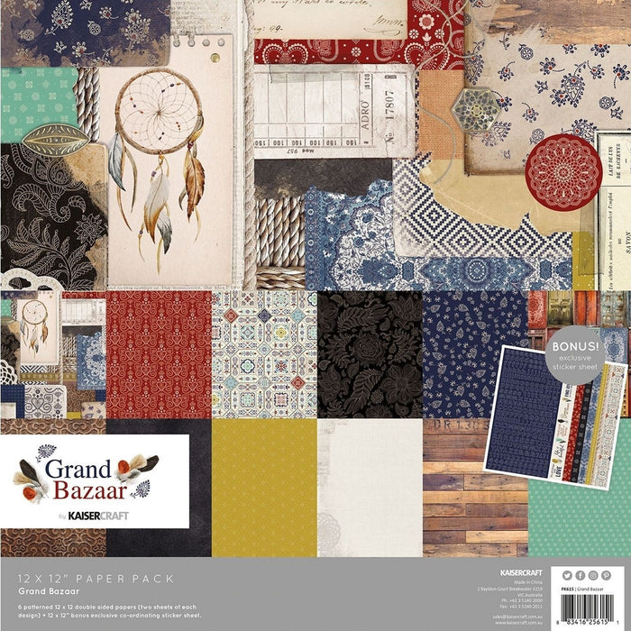 Kaisercraft Grand Bazaar - 12x12 Paper Pack