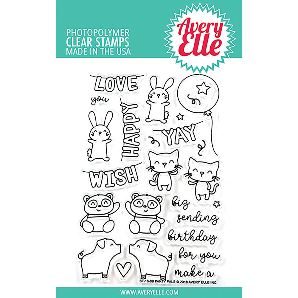 Avery Elle Clear Stamps - Party Pals