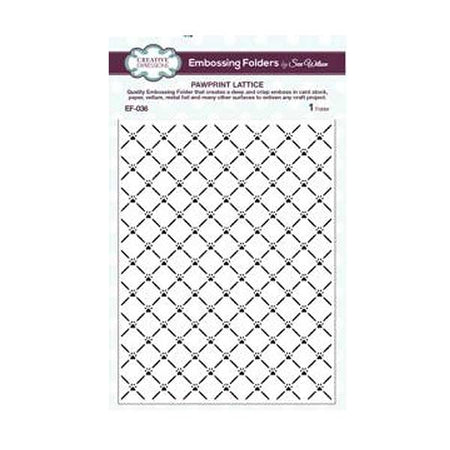 Creative Expressions 6x7.5 Embossing Folder - Pawprint Lattice